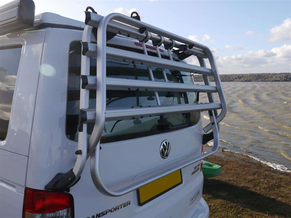 Campervan conversion bike rack