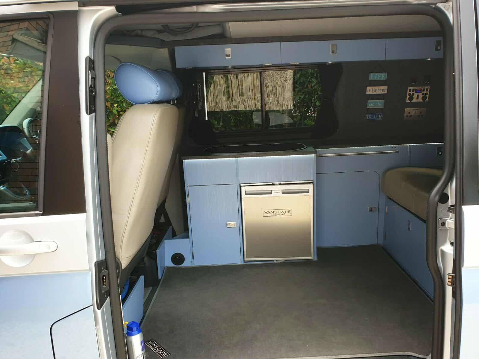 reimo webasto weaco solar 12v campervan camping fridge van interior custom design custom build custom electrics